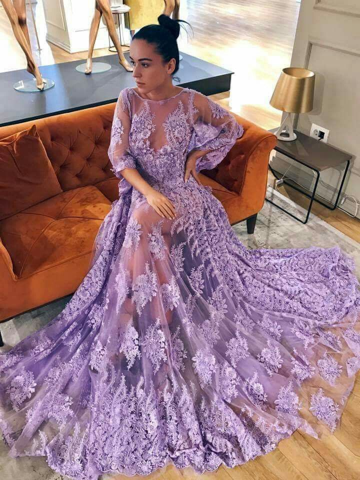 febd864b87c Custom Made Comfortable Long Prom Dresses Chic Long Sleeve Vintage Prom  Dress Lace Beautiful African Prom Dress