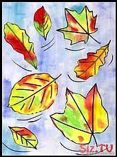 Der Herbst kommt – Zeit, mit Wasserfarben ein tolles Bild zu malen – Startpunkt …,  #Bild #…