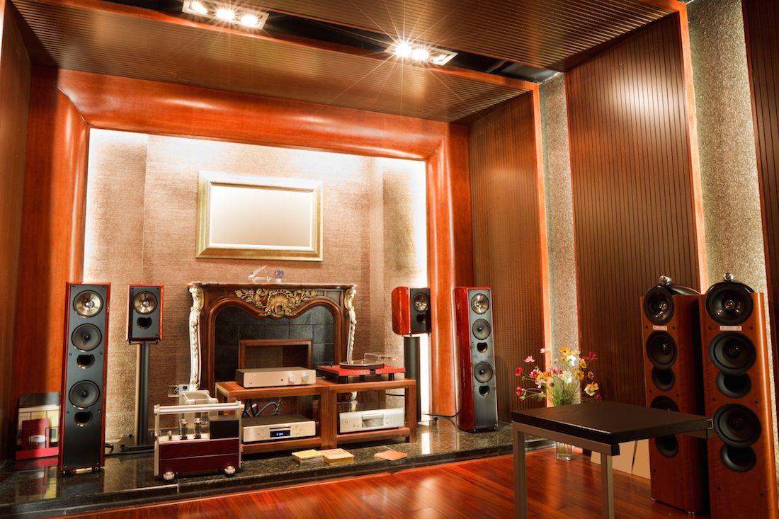 listening room design Cine en casa Pinterest Room