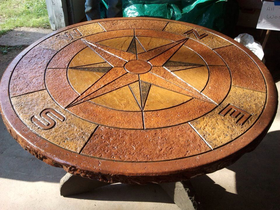 Compass Table Top Mold Calicoproducts Com Concrete Stepping