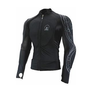 Armored BMX shirt. Perfect for a modern assassin, a vigilante, or a futuristic undersuit. Details and colors can be switched out. Higher collar suggests military training.