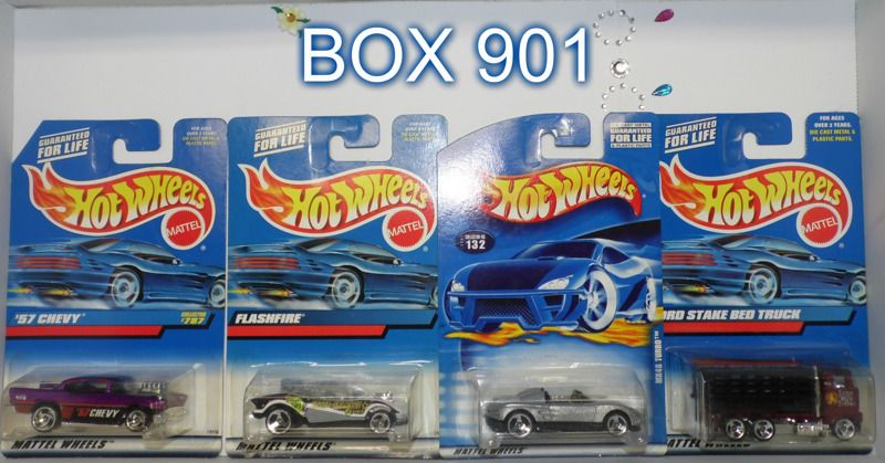 HotWheels * multi-year * 4 car Box 901