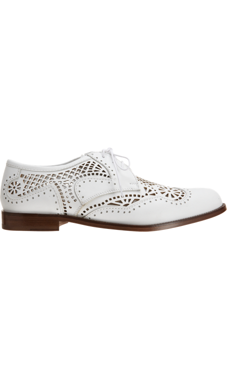 How would you rock the laser-cut oxfords?