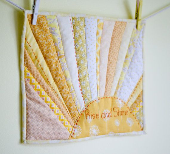 Rise and Shine mini quilt wall hanging art by MeandMadeline, $40.00 ...