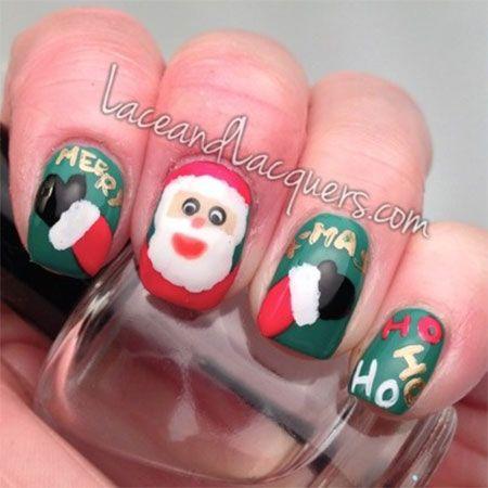 Easy Santa Nail Art Designs Ideas 2013 2014 Xmas Nails 10 Easy Santa