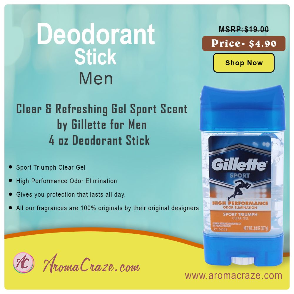 Clear & Refreshing Gel Sport Scent by Gillette for Men 4