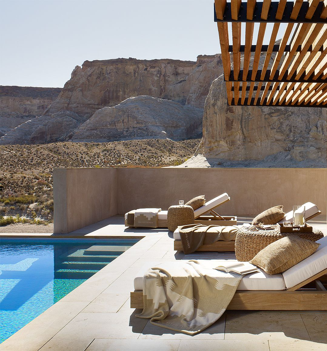 Ralph Lauren Home redefines a desert oasis as luxe poolside lounging ...
