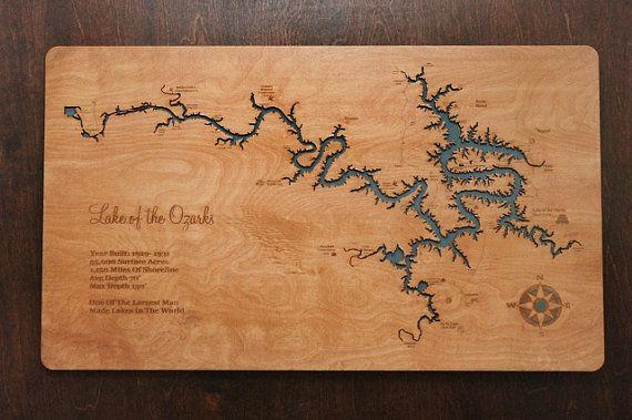 Lake of the Ozarks  The Magic Dragon Missouri wooden laser