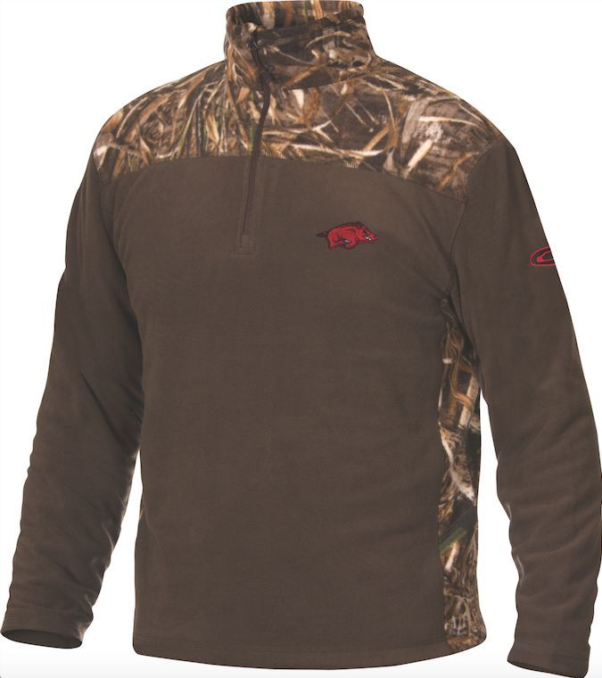 DRAKE UNIVERSITY OF ARKANSAS CAMO CAMP FLEECE PULLOVER- SD-ARK ...