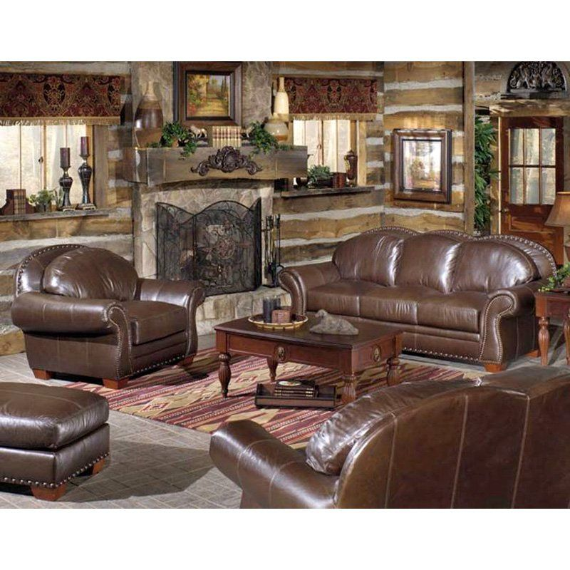 Room Store Living Room Furniture: Quest Leather Everest Walnut