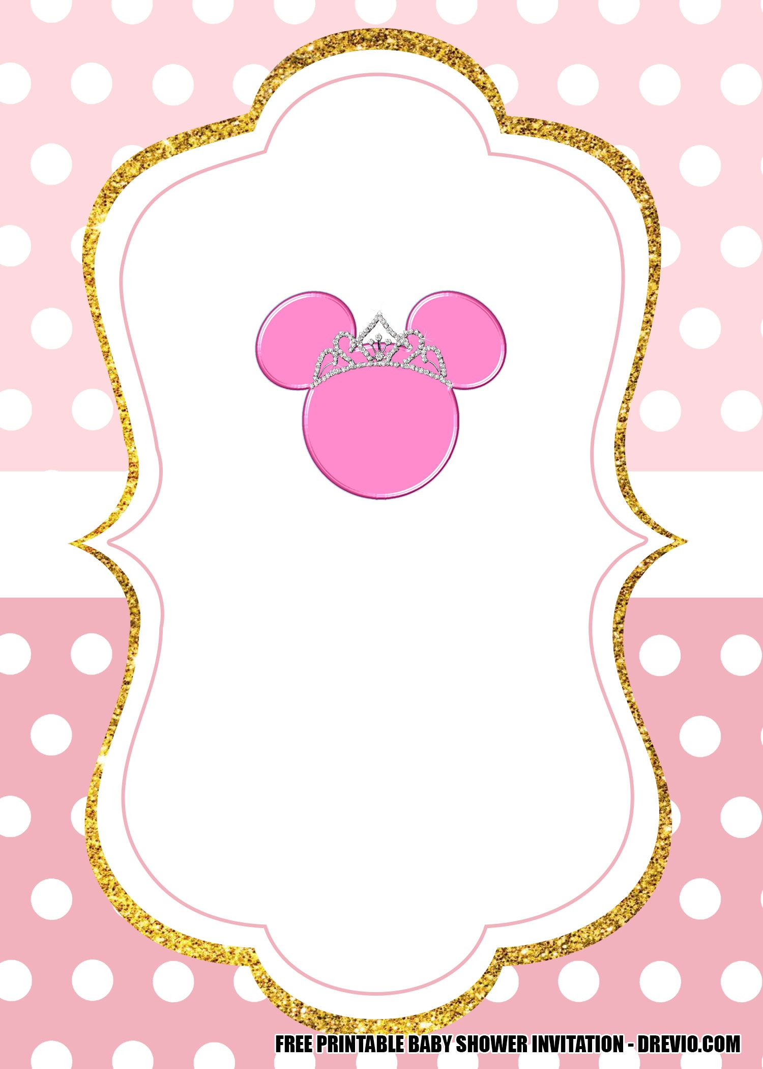 free minnie mouse pink and gold
