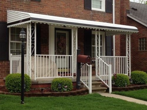 Aluminum Awning With S Scroll Columns Mobile HomeAluminum