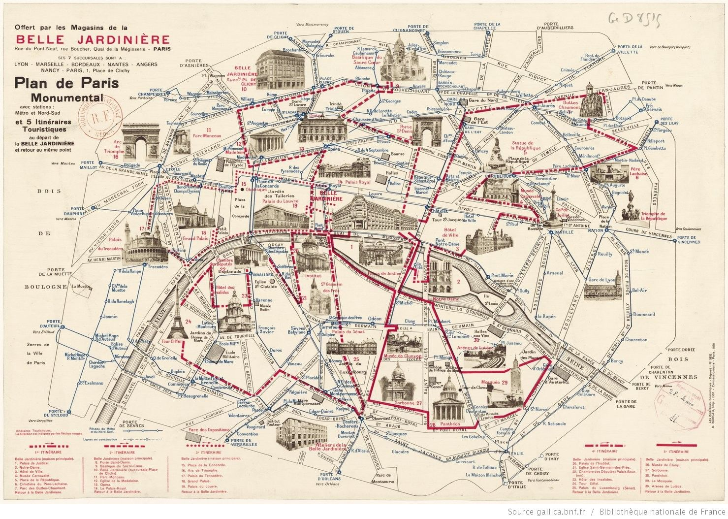 Carte Paris Monuments Et Portes Culture Pinterest De Paris - Paris map monuments