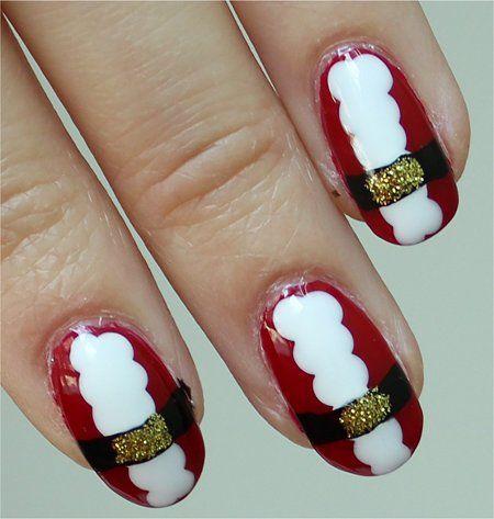 Santa Claus Nail Art From Swatchandlearn Christmas Themed