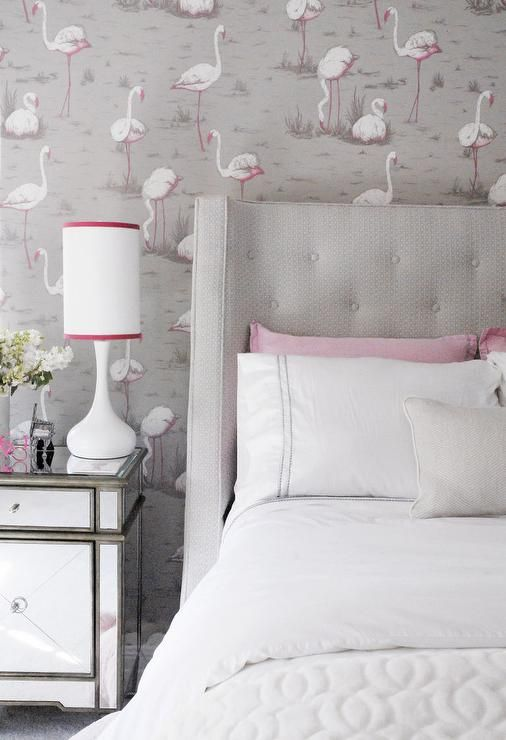 Pin On Papered Walls Bedroom wallpaper ideas pink and grey