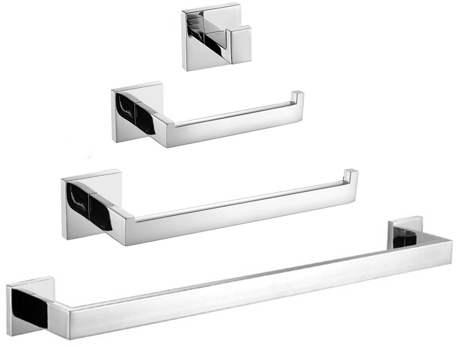 304 Stainless Steel Mirror Polished Bathroom Hook Accessories Sets ...