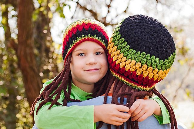 Ravelry: Jamaican Hat with Fake Dreadlocks pattern by Viktoria ...