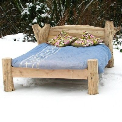 HANDMADE DRIFTWOOD BED FRAME FURNITURE - UK Double Size, Kingsize also  available