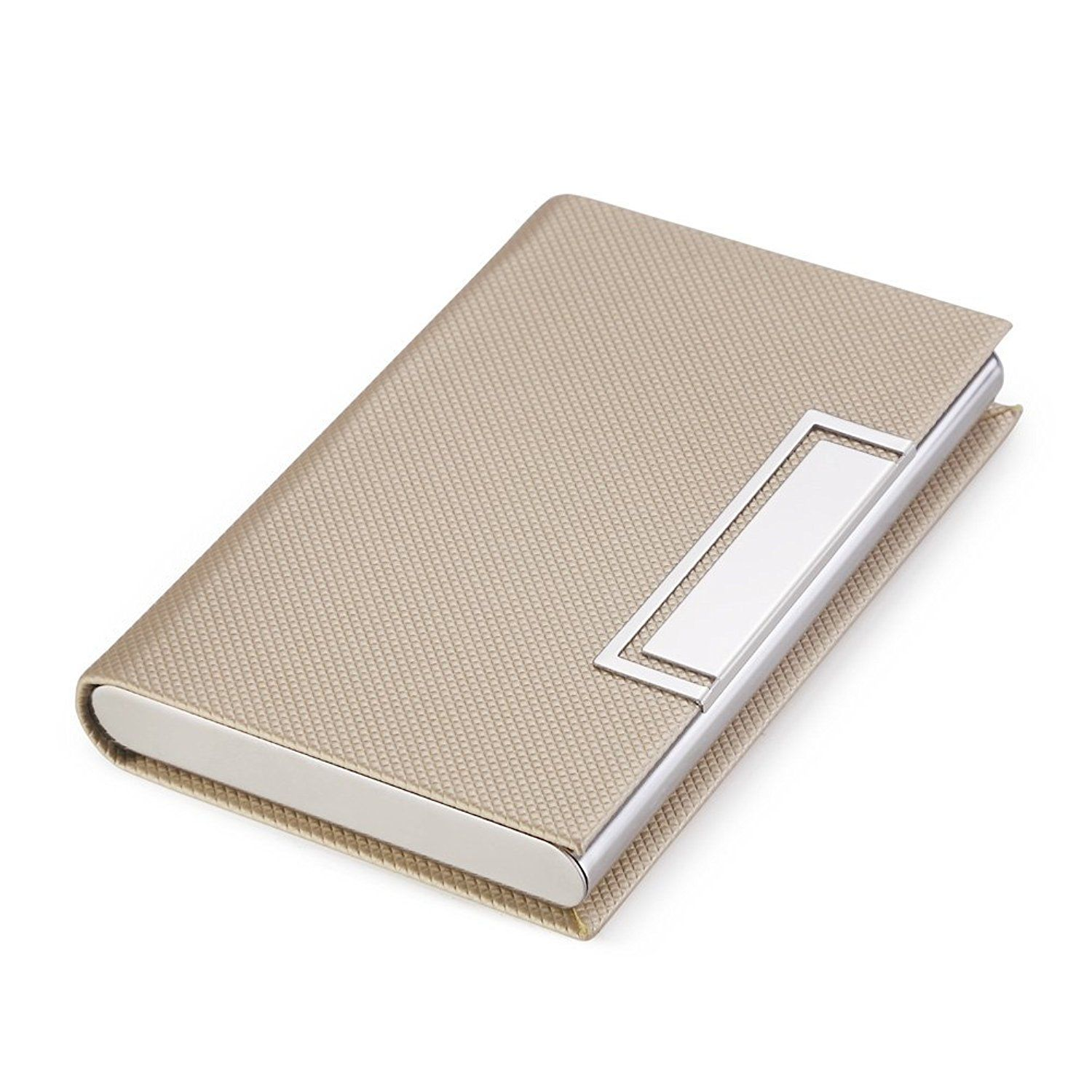 Teemzone Business Name Card Holder Luxury Leather Amp Stainless Steel Multi Card Case Business Name Card Holder Wallet Credit Slim Wallet Men Wallet Leather