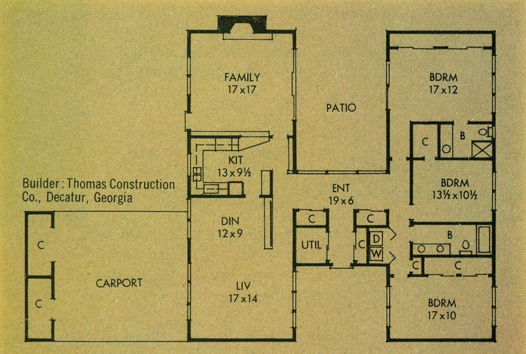 Better Homes Gardens Homes For All America Plan 3307 A Modern House Plans How To Plan Floor Plans Ranch