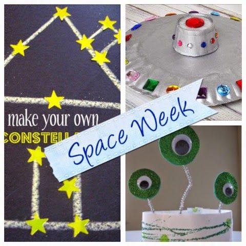 2 Bored Moms 51 Weeks: Space Week. Great ideas for moms, preschool teachers and day care providers!