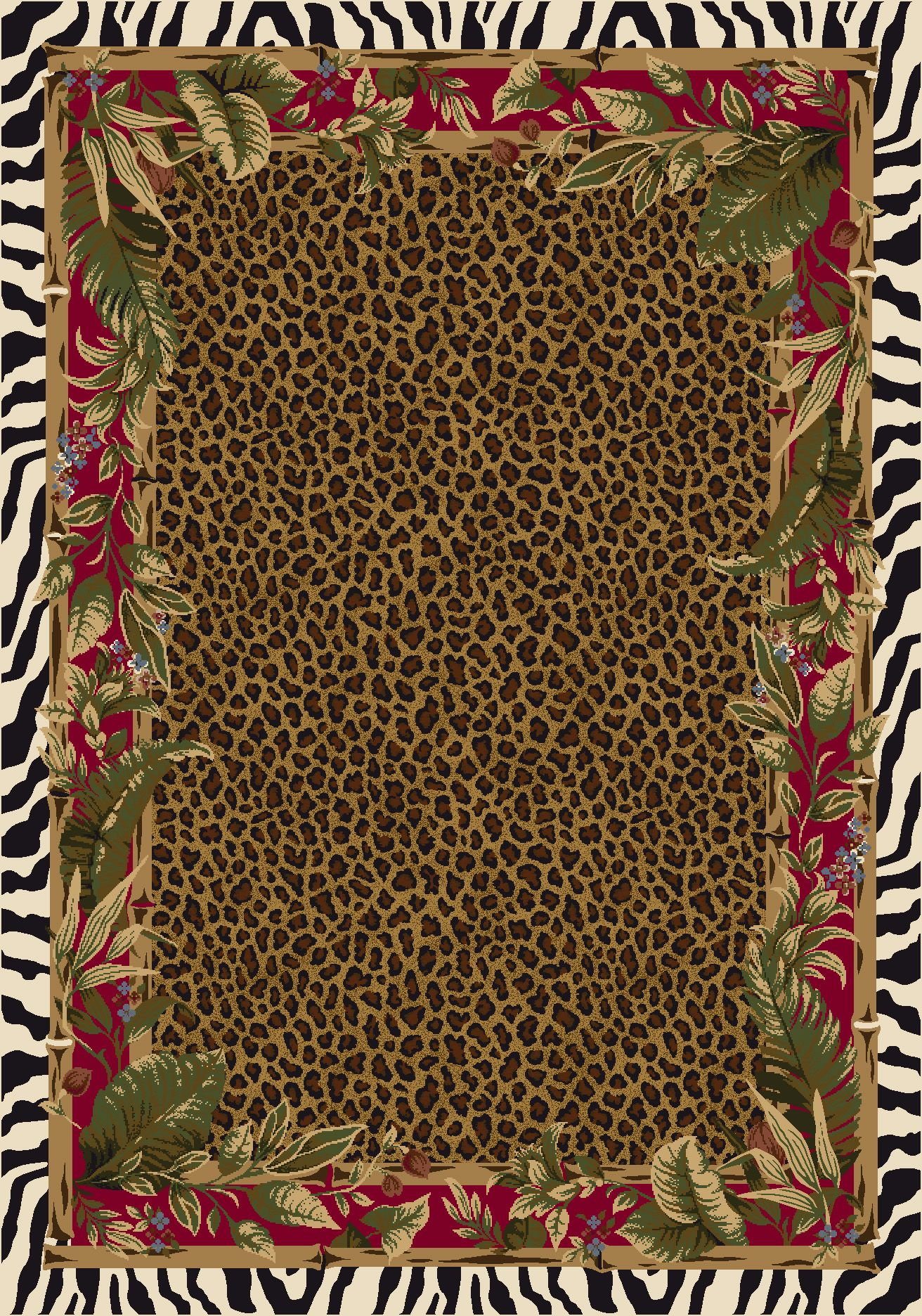 Animal Print Rug :: Milliken   Signature   Jungle Safari (Ruby)