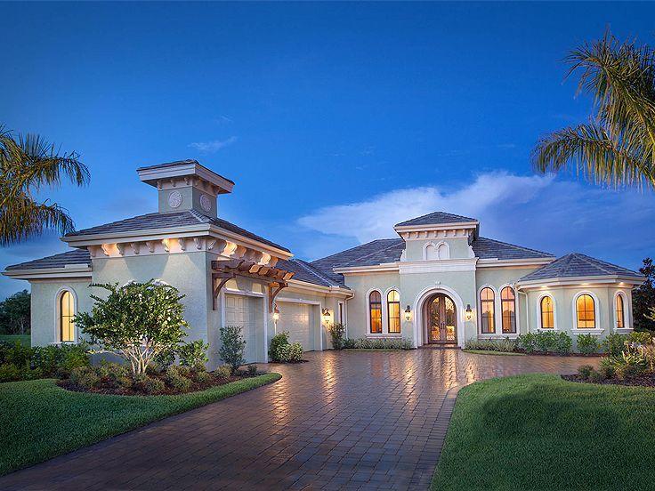 037H-0201: Luxurious Mediterranean House Plan | Mediterranean House ...