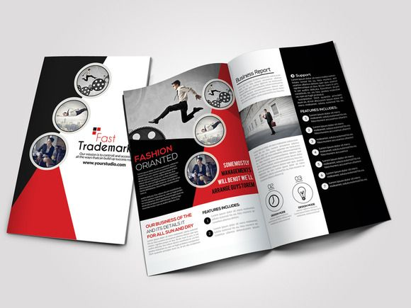 Business Bi Fold Brochure Brochures and Psd templates