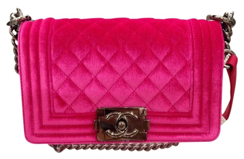 58c3fa6a142b Chanel Small Le Boy In Hot Velvet Pink Cross Body Bag. Get the trendiest Cross  Body Bag of the season! The Chanel Small Le Boy In Hot Velvet Pink Cross  Body ...