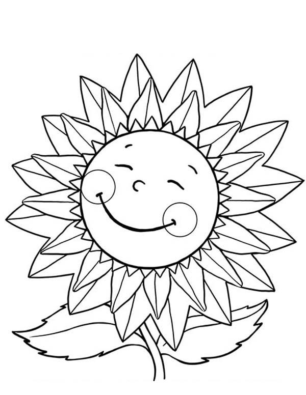 Happy sunflower coloring page jpg 600x776