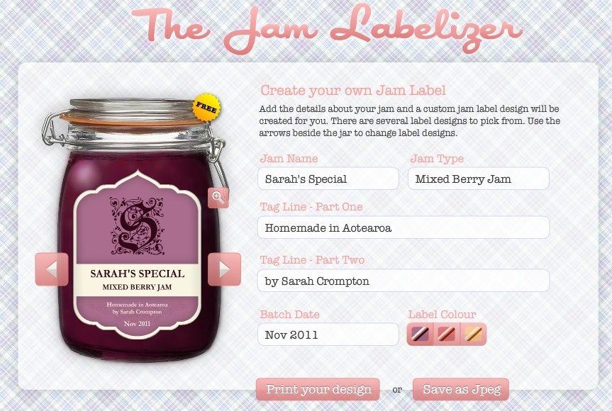 Jam Labelizer Design Your Own