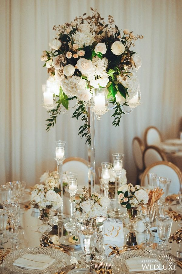 wedding decoration for reception a sky high centerpiece topped with cascading 9040