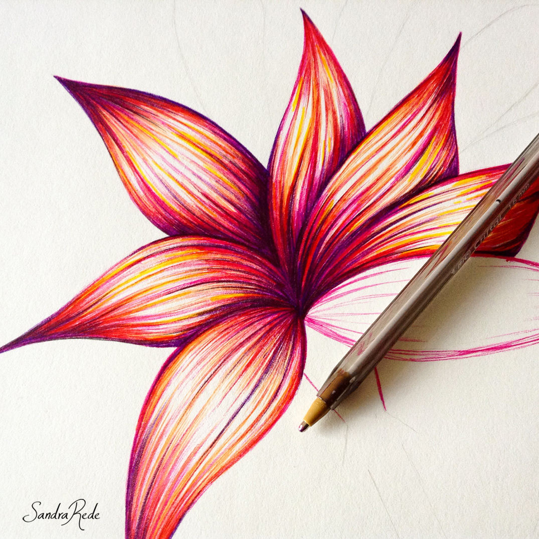 Abstract Art by Sandra Rede — WIP Ballpoint pen drawing / Sandra ...