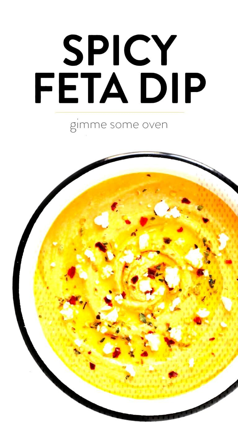 LOVE this Spicy Greek Feta Dip (Tirokafteri)! It's made with creamy feta cheese, roasted red pepper