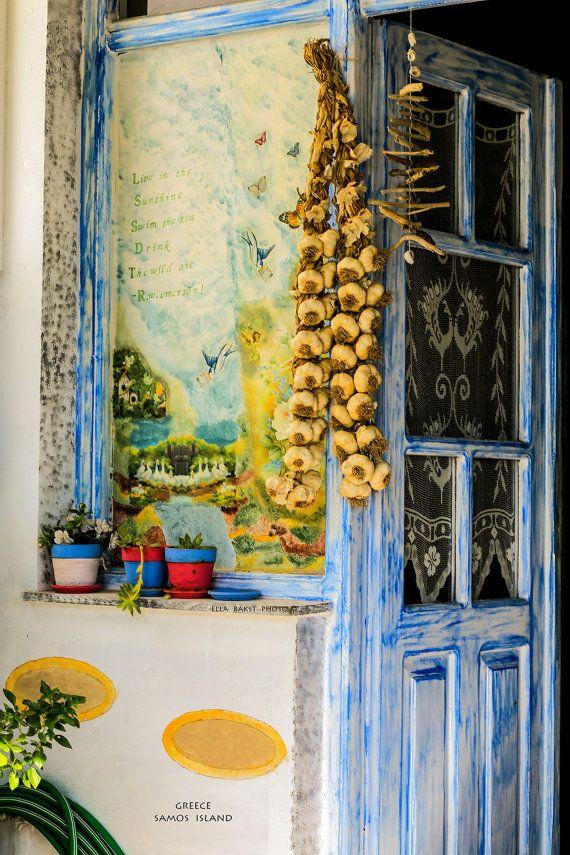 Greece Rustic Photo Color Photo Mediterranean Decor Travel ...