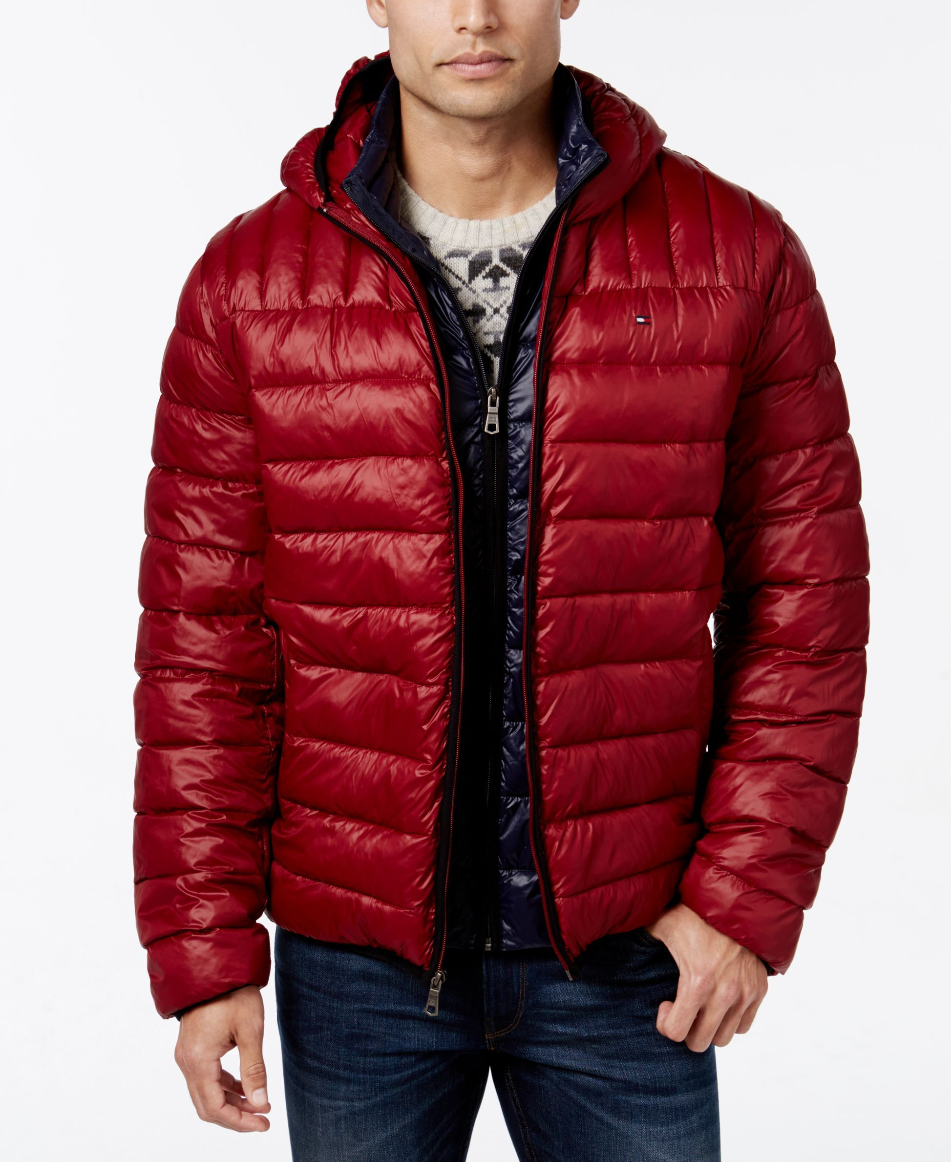76d459b15 Tommy Hilfiger Hooded Packable Jacket | Buy down jacket | Packable ...