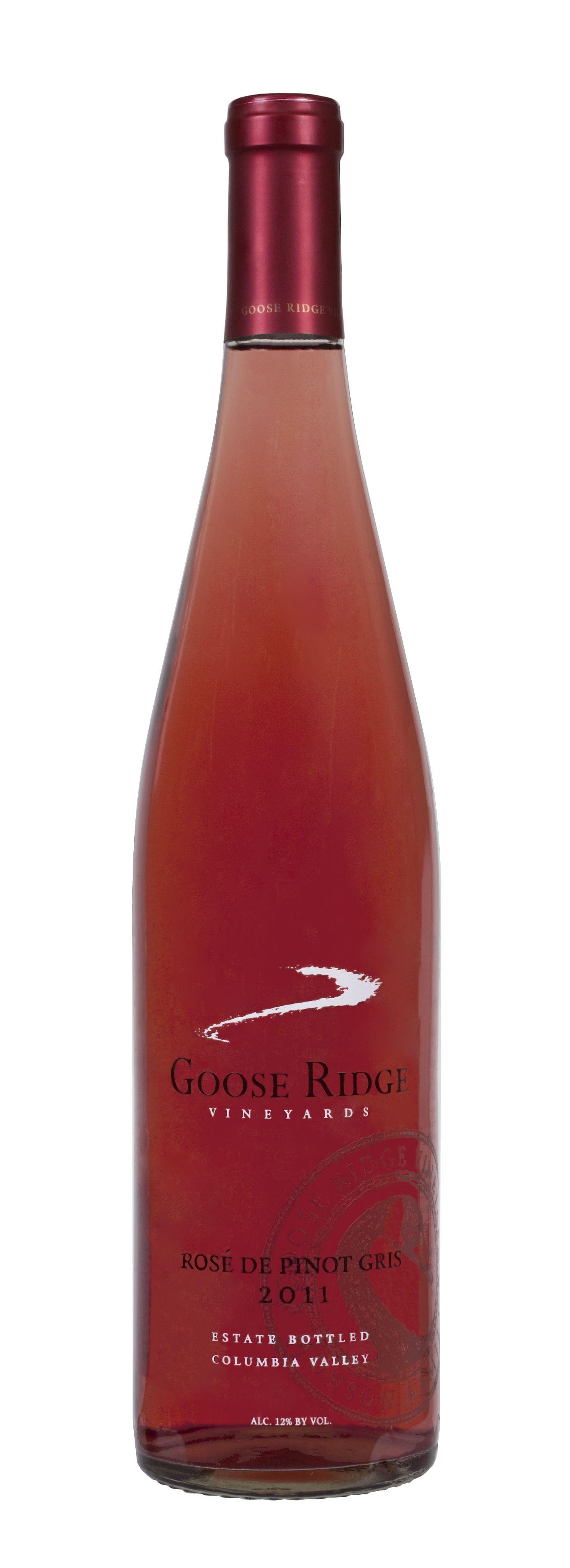 2011 Rose De Pinot Gris Pinot Gris Rose Wine Bottle Pinot