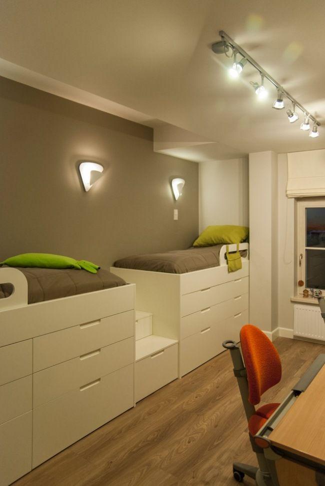kleine Kinderzimmer sinnvoll Einrichten-Hochbetten mit Bettkasten - mobel fur kleine wohnzimmer