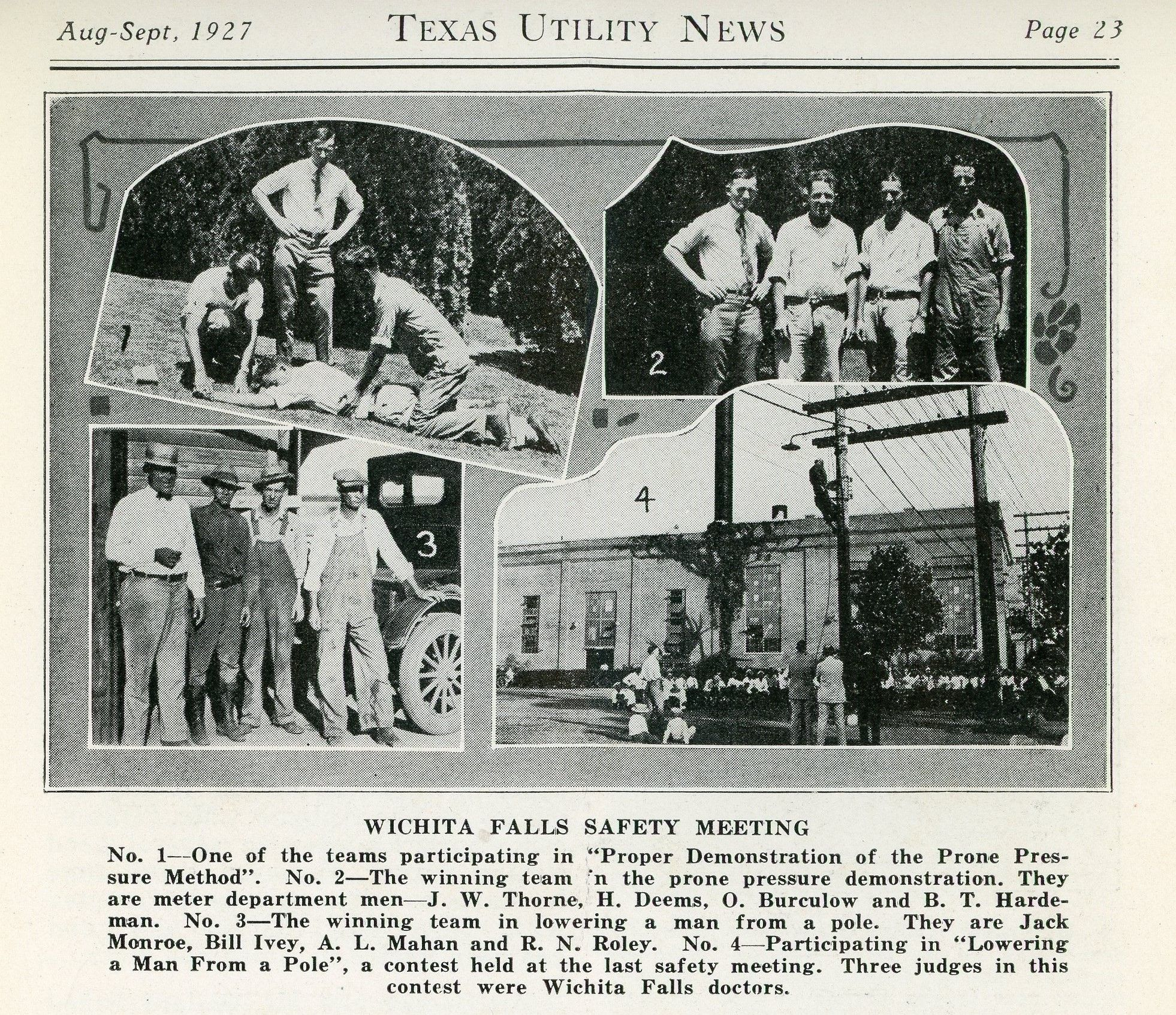 August September 1927 Texas Utility News Wichita Falls Texas