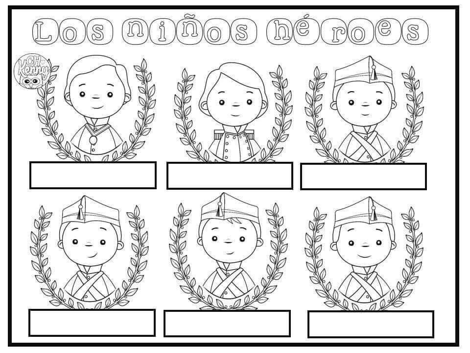 Pin De Anita En Septiembre Efemerides Banner Decoracion Calendario Y Adornos Ninos Heroes De Chapultepec Ninos Heroes Para Colorear Septiembre Preescolar