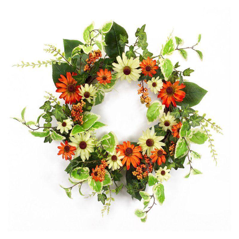 Melrose International Vibrant Black Eyed Susan Wreath