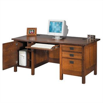 "Anthony Lauren Craftsman Home Office 72"" W Executive Modesty Computer Desk $1,800"