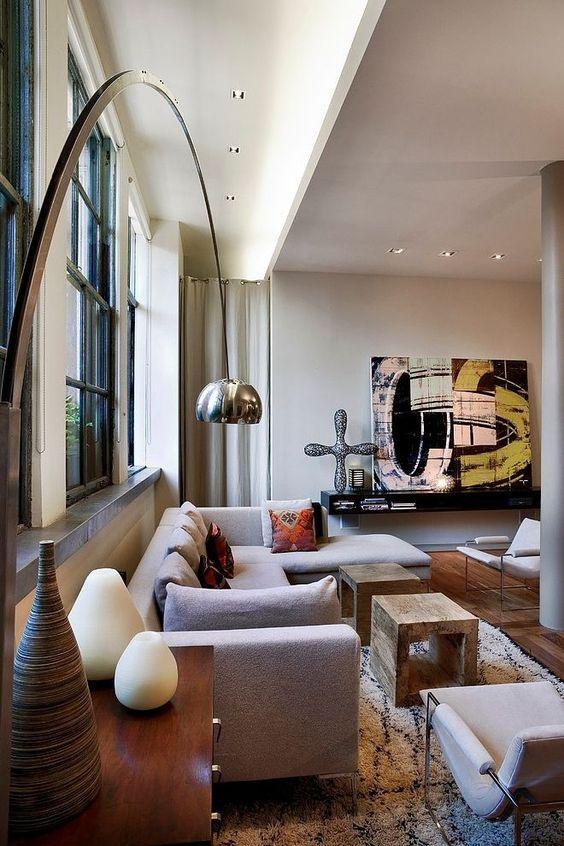 Arco Lamp Interior Architecture Design Living Room Designs Interior Architecture #small #living #room #lamp