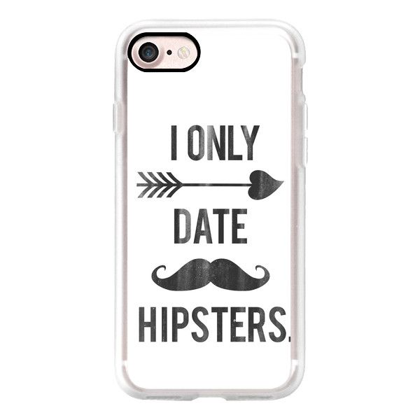 I Only Date Hipsters Mustache Cupid Design - iPhone 7 Case, iPhone 7... (€31) ❤ liked on Polyvore featuring accessories, tech accessories, iphone case, iphone cases, iphone cover case, apple iphone cases and slim iphone case