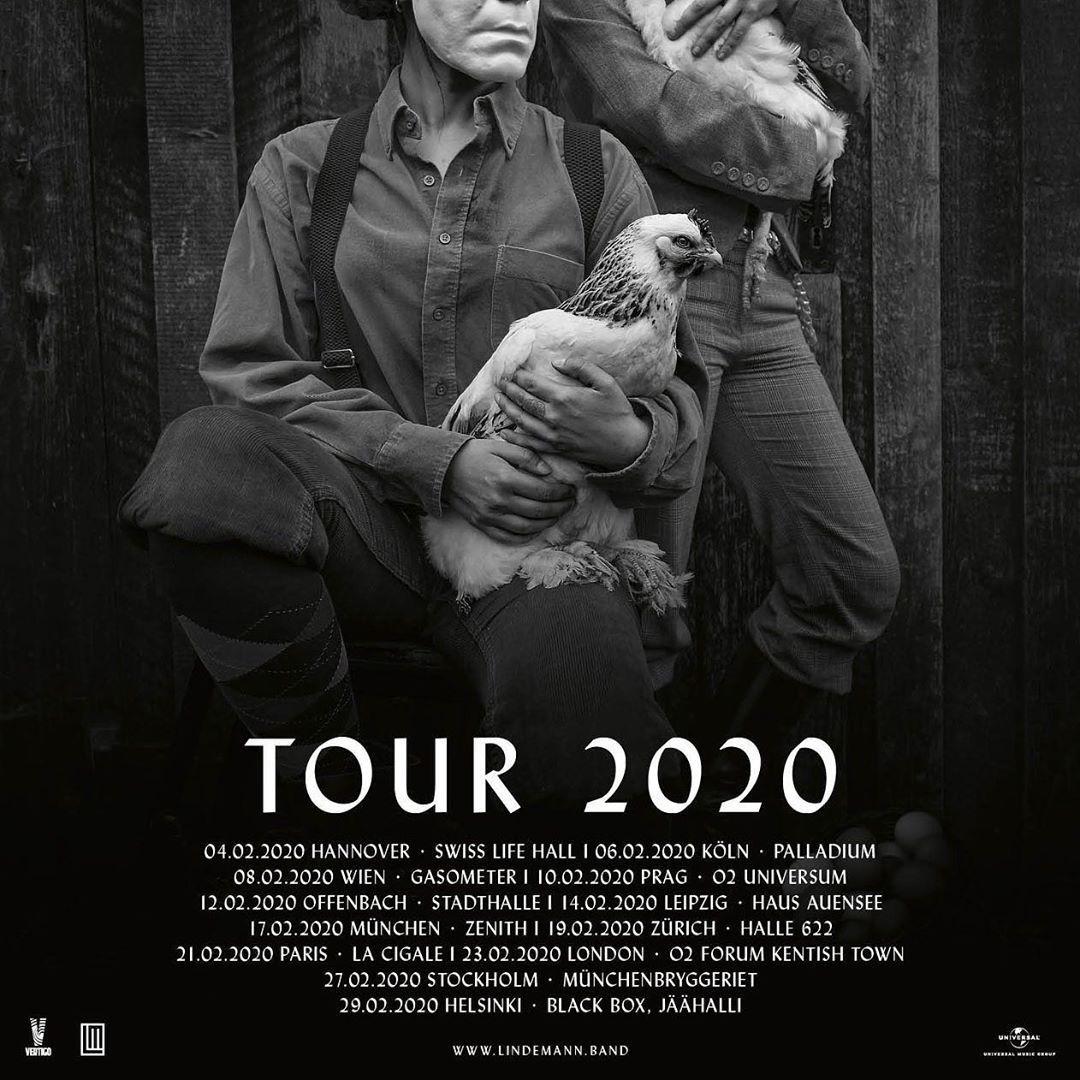 Lindemannworld On Instagram The First Ever European Lindemann Tour Tickets On Sale This Friday Lindemann Lindemanntour Ti Tours Till Lindemann Instagram