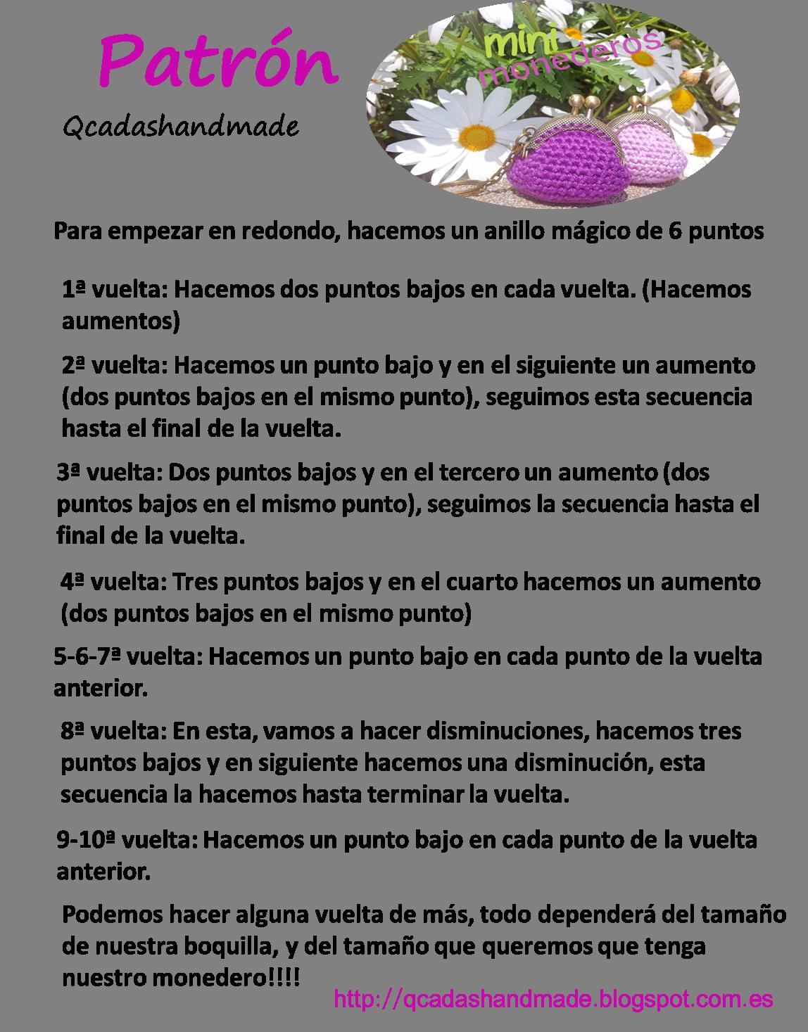Tutorial Mini Monederos con boquilla crochet | Cosas para ponerse ...