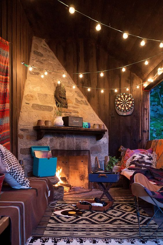 Campfire With The Warm BulbWarm All Of Your Winter Outdoor - Where can i buy string lights for my bedroom