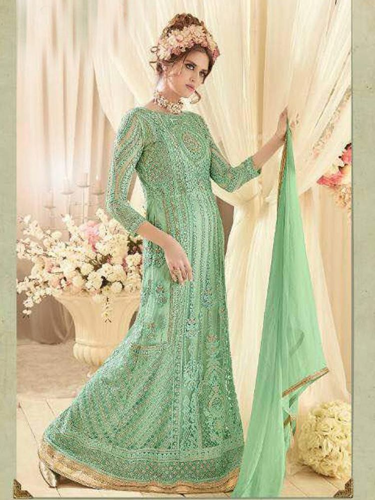 31538f7ce new party wear gown bollywood designer fancy look for girls | eBay ...