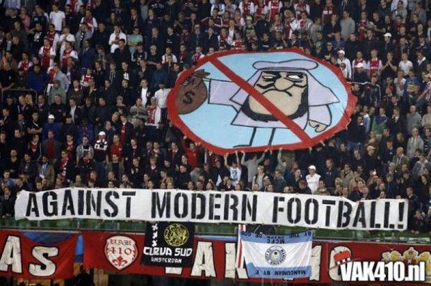"Ultras / Ajax / VAK410 / "" Against Modern Football ! """