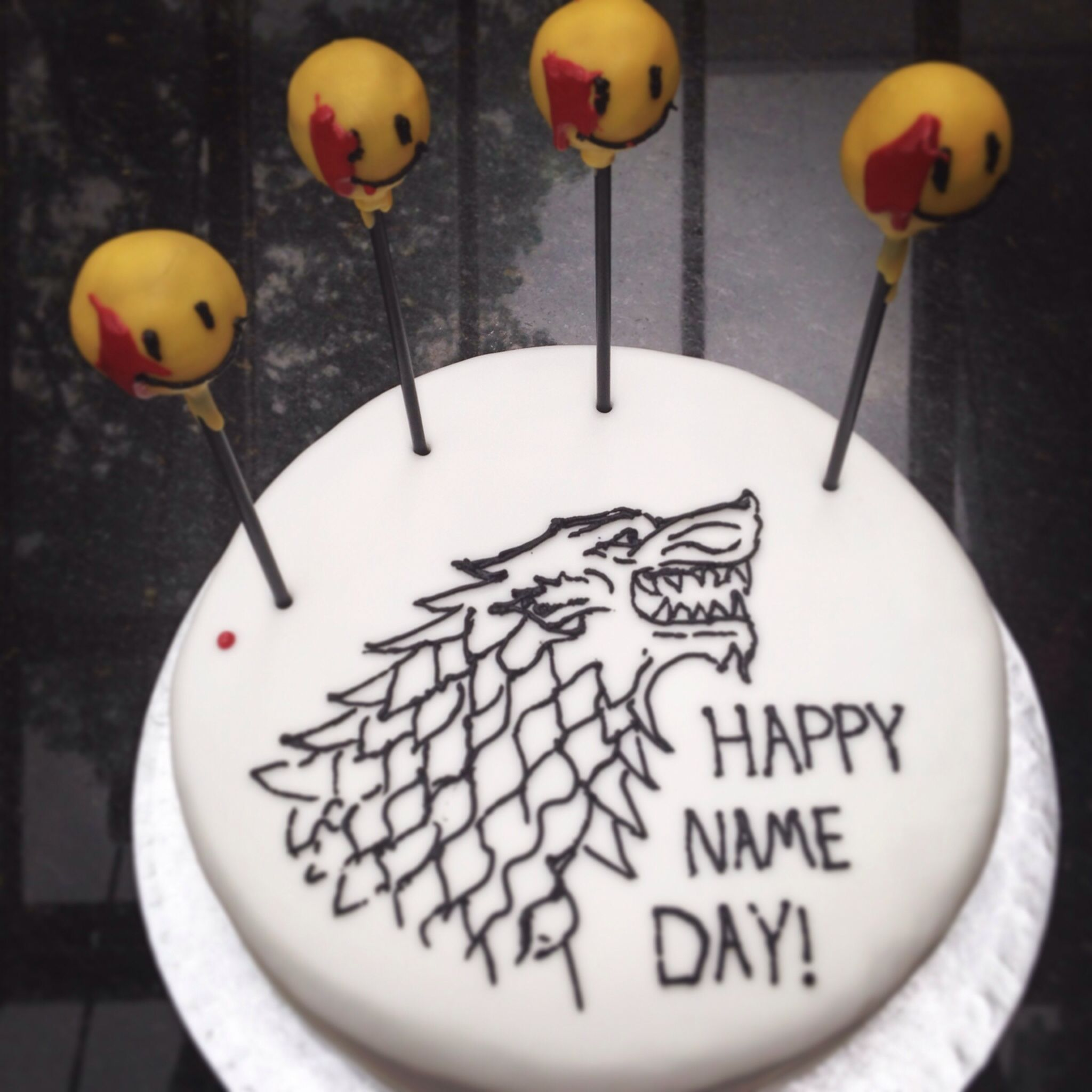 Game Of Watchmen Birthday Cake